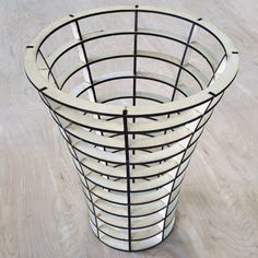 Laser Cut Paper Waste Basket, Office Paper Basket