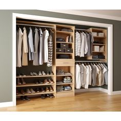 Home Decorators Collection Assembled Reach-In 15 in. D x 120 in. W x 84 in. H Calabria in a Glacier White Melamine Closet System Assembled Reach-In 15 in. D x 120 in. W x 84 in. H Calabria in a Glacier White Melamine Closet System Bedroom Closet Design, Master Bedroom Closet, Closet Designs, Bedroom Decor, Bedroom Retreat, Bedroom Small, Walking Closet, Closet Shelves, Closet Storage