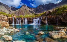 Beautiful Fairy Pools in Scotland