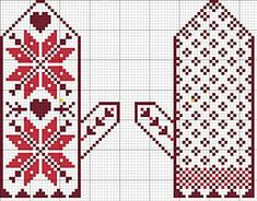 Snow Day Ornament Set Pattern – Posie: Patterns and Kits to Stitch by Alicia Paulson Knitted Mittens Pattern, Knit Mittens, Knitted Gloves, Knitting Socks, Knitting Charts, Knitting Stitches, Knitting Patterns, Chart Design, Wrist Warmers