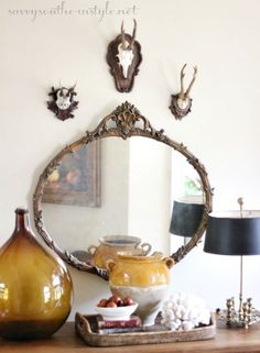 Savvy Southern Style: Late Summer Vignette Using a New Vintage Find