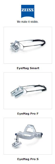 NEW!  Now Available! Exclusively through Henry Schein!  Seeing is believing.  Zeiss EyeMag dental loupes combine precision optics with a sophisticated design.  Superior clarity Wide field of view Lightweight, ergonomic design