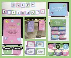 BUTTERFLY Birthday Party Invitation & Printable collection