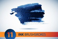 FREE this week only! Vector ink  brushstroke set by Lara Cold illustrations  on Creative Market
