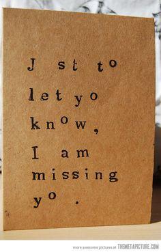 Missing u card…