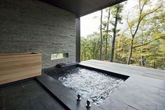 Japanese soaking tubs and faucets from Aquapal U. sunken Japanese soaking t .Japanese soaking tubs and faucets from Aquapal U. sunken Japanese soaking tubs Japanese soaking tubs and faucets from Aquapal U.Japanese soaking tubs and Japanese Soaking Tubs, Japanese Bathroom, Sunken Tub, Interior Architecture, Interior Design, Japanese Architecture, Pavilion Architecture, Interior Modern, Sustainable Architecture
