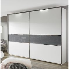 Penny 2 Door Sliding Wardrobe Rauch Colour: White/Grey, Size: H x W x D, Total number of shelves: 6 Wardrobe Interior Design, Classical Interior Design, Bedroom False Ceiling Design, Bedroom Cupboard Designs, Wardrobe Design Bedroom, Bedroom Closet Design, Interior Design Kitchen, Sliding Door Wardrobe Designs, Drawing Room Furniture