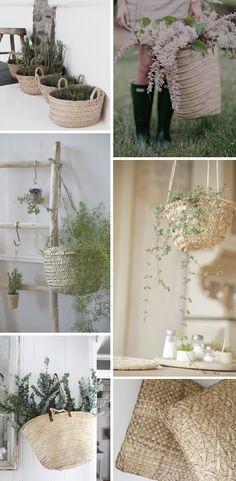 NO ES SOLO PARA EL VERANO Tree Branches, Ladder Decor, Art Pieces, Table Decorations, Green, Baskets, Furniture, Home Decor, Gardens