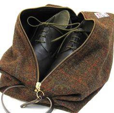 Harris Tweed shoe bag