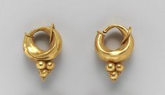 Etruscan gold earrings C.500B.C A master goldsmith made these...