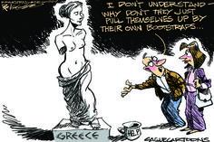 Editorial cartoon World Greece Economy Greece Economy, The Week Magazine, July 9th, Political Cartoons, Current Events, Editorial, Thursday, Ph, Anime