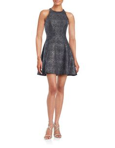 Women's   Party Dresses   Glitter Fit-and-Flare Dress   Hudson's Bay