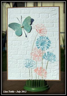 Beautiful card using Tim Holtz Distress markers by Lisa Tottle.