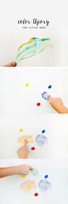 DIY: Some fun tips for exploring color with children! #kidscraft #preschool #efl