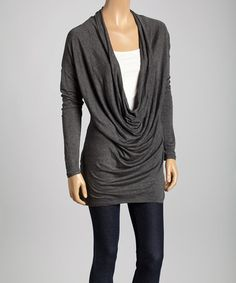 Take a look at this Charcoal Drape Tunic on zulily today!