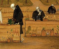 Finnish Painting - The Garden of Death, 1896 by Hugo Simberg Wall Art Prints, Fine Art Prints, Poster Prints, Canvas Prints, Tumblr, Custom Coasters, Memento Mori, Painting Frames, Home