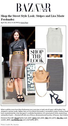 horatio striped pencil skirt on Harper's Bazaar.com