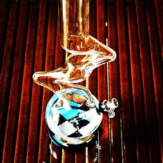 Stylish protection for your glass collection. #PipePadz self-stick #waterpipe coaster.