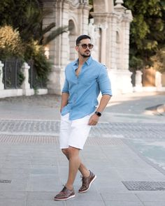 Summertime Outfits, Summer Outfits Men, Short Outfits, Casual Outfits, Fashion Outfits, Modern Man, Pretty Boys, Style Guides, Sexy Men