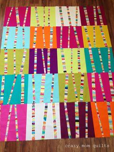 bright birch trees redux - just love this idea for tiny scraps