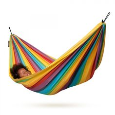 Kids will love this for Christmas! FREE ground shipping, too! Made In The Shade Hammocks - Child Hammock – Iri Model (Rainbow Color), $59.95 (http://www.madeintheshadehammocks.com/child-hammock-iri-model-rainbow-color/) #childrenshammocks #hammocksforkids