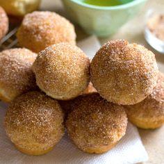 Mini Cinnamon Sugar Doughnut Muffins (aka Snickerdoodle Doughnut Holes) - Life Made Simple