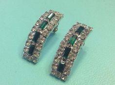 Brilliant Emerald Green & Clear Rhinestones by SweetBettysBling, $15.00