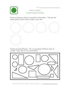 circle worksheet