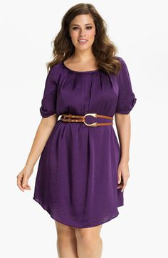 Jessica Simpson Belted Scoop Neck Dress (Plus) available at #Nordstrom