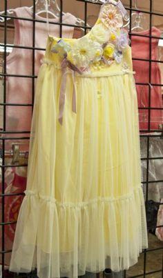 Soft Yellow Vintage Garden Girls Dress