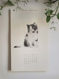 The Wild Unknown 2012 Kittens Calendar - matched w/lyrics to songs by Dylan, The Stones and more. $30