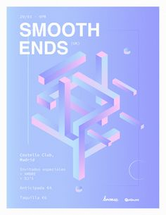 Smooth ends 03 Graphic Design Posters, Graphic Design Typography, Graphic Design Inspiration, Branding Design, 3d Typography, Web Design, Book Design, Layout Design, Print Design