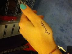 Faith tattoo - I wouldn't get it there but I love the font