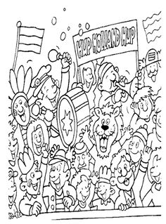 Carnaval Brazilie Kleurplaten.21 Best Kleurplaten Wk 2018 Images Coloring Pages Colouring Pages