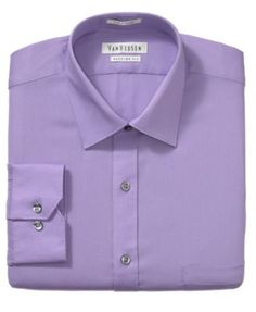 Van Heusen Dress Shirt, Pincord Solid Long Sleeve Shirt