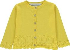 Tartine et Chocolat Openwork Cardigan Lemon yellow `6 months Fabrics : Knitted cotton Details : Straight cut, Round neckline, Long sleeves, Pearly buttons, Hemstitched detail Composition : 100% Pima cotton http://www.comparestoreprices.co.uk/january-2017-7/tartine-et-chocolat-openwork-cardigan-lemon-yellow-6-months.asp