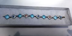 Vintage Willy Winnaess post David Andersen Sterling silver enamel bracelet #WillyWinnaess