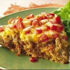 Impossibly Easy Taco Pie (Gluten Free) on BigOven: No taco shells are needed for enjoying the great taco flavor of this easy main-dish pie.  Bettycrocker.com