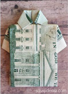 Dollar Bill Origami T-Shirt Father's Day Card - Sassy Dealz