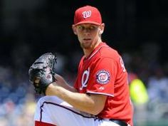 Washington Nationals Stephen Strasburg beating Miami.  Photo by Brad Mills-US Presswire