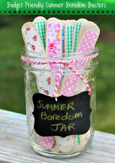 budget friendly  Summer Boredom busters
