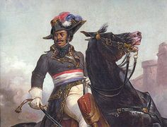 General Alexandre Dumas (father of author Alexander Dumas) 25 March 1762 – 26 February 1806 - was a general in Revolutionary France and the highest-ranking person of color of all time in a European army. He was the first person of color in the French military to become brigadier general, the first to become divisional general, and the first to become general-in-chief of a French army. At least two of his son's books were based on his military exploits.