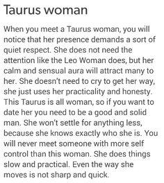 Seducing a taurus woman
