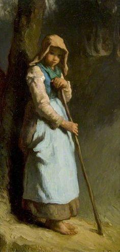 A Shepherdess Jean-François Millet (1814–1875) The Burrell Collection