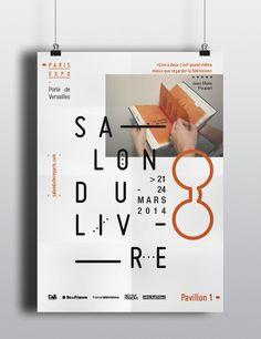 Salon du Livre by Adrien Doud, via Behance