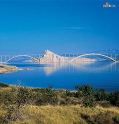 Croacia ♥ Croatia The Krk bridge, Krk, Croatia Pula, Beautiful Islands, Beautiful Places, Places To Travel, Places To See, Les Balkans, Thousand Islands, Croatia Travel, Go Camping