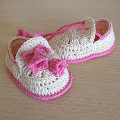 PDF file CROCHET Pattern - Baby Shoes Summer Bells ( 0-6 /6- 12 months)