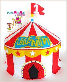 Piñata Cirque / Circus Birthday Party / Birthday Party Ideas / Piñatas en France / Piñatas en Francia