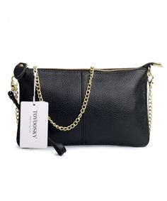 Side Purse Handbag Cross Body Bag Leather Clutch Purse with Chain Strap Small  Shoulder Bag - Black - CR186SWLCA4 ca4bd9a9b0afc