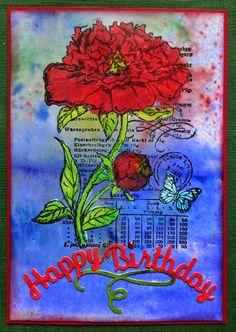 Schaerfchens Kreative Welt: Geburtstagsgruß auf Brusho-Hintergrund
